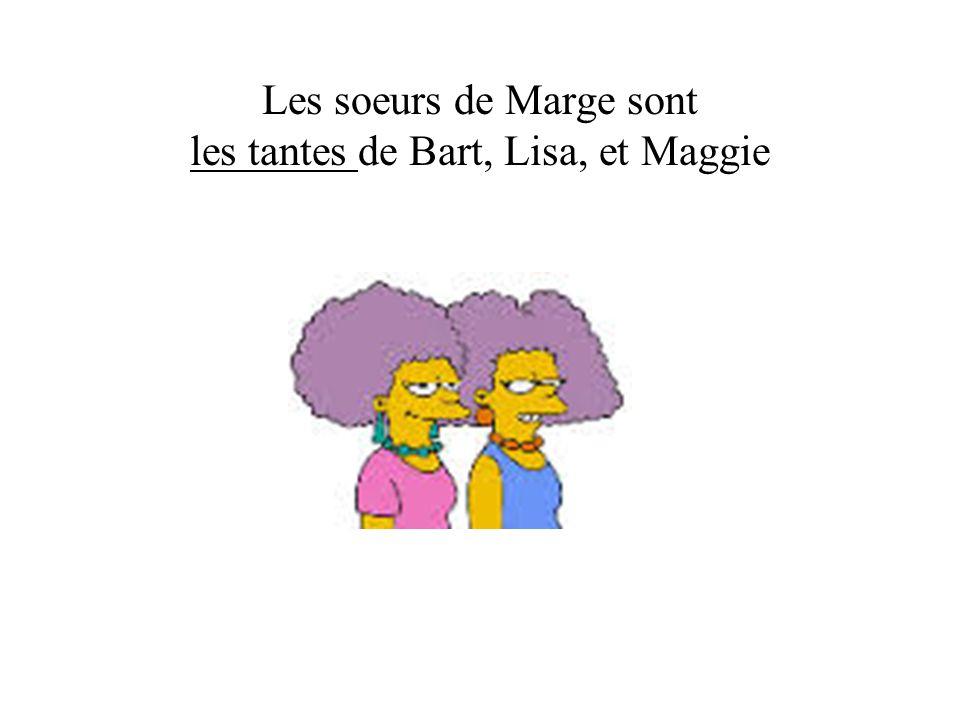 Les soeurs de Marge sont les tantes de Bart, Lisa, et Maggie