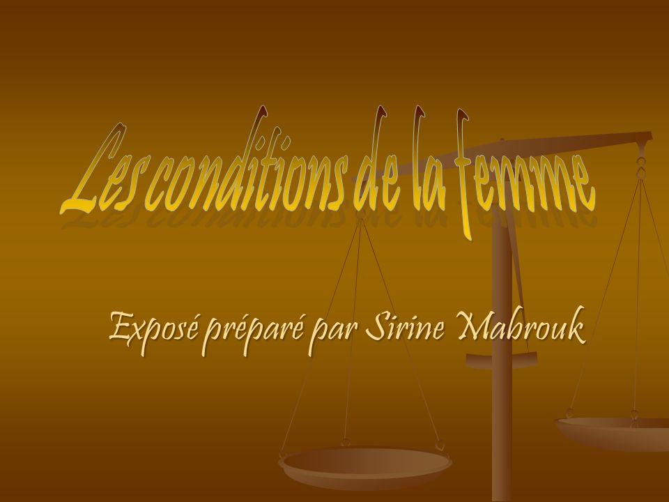 Exposé préparé par Sirine Mabrouk