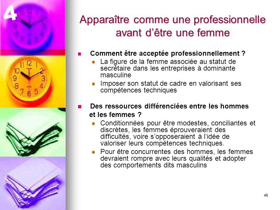 47 Des femmes responsables de la socialisation des hommes.