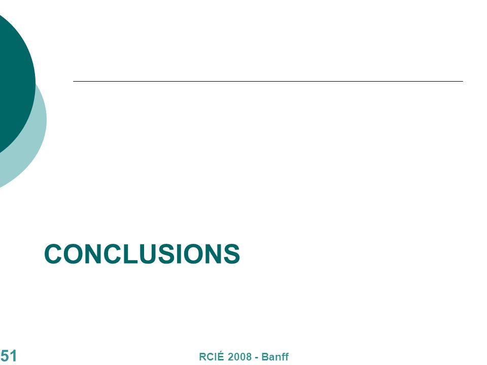 51 CONCLUSIONS RCIÉ 2008 - Banff