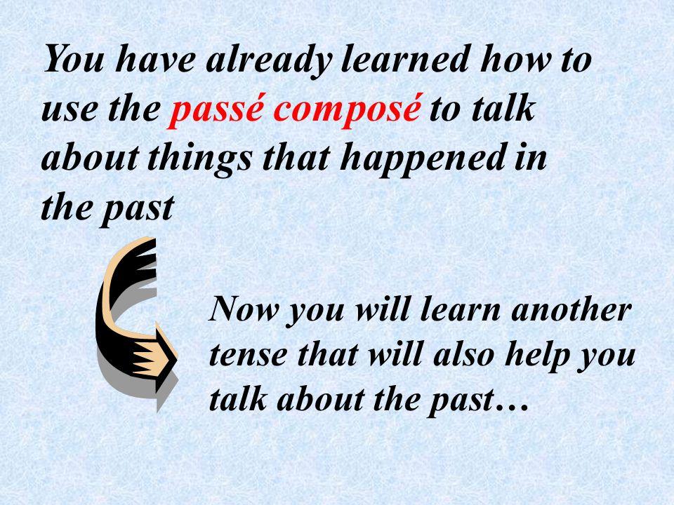 L imparfait est un autre temps pour indiquer le passé. Comment former limparfait?