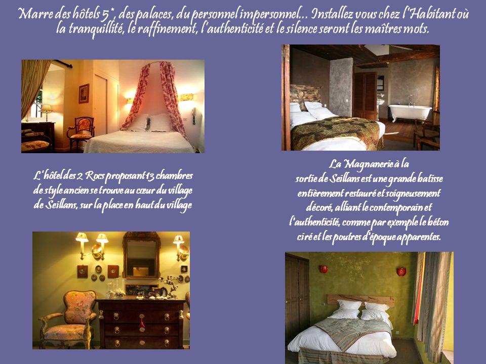 Marre des hôtels 5*, des palaces, du personnel impersonnel... Installez vous chez lHabitant où la tranquillité, le raffinement, lauthenticité et le si