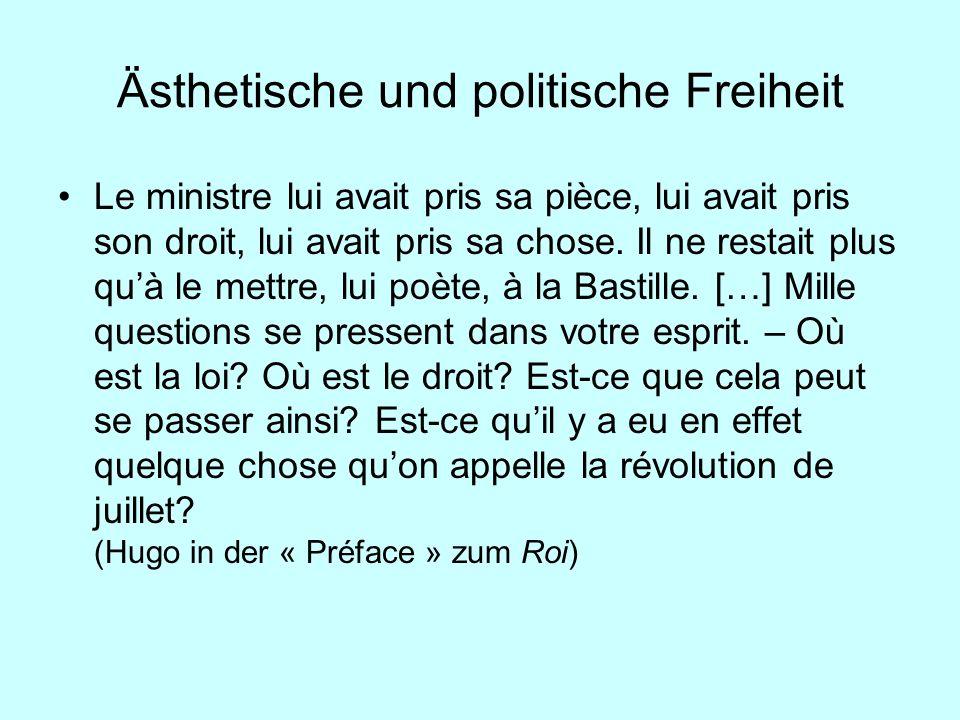Ästhetische und politische Freiheit Le ministre lui avait pris sa pièce, lui avait pris son droit, lui avait pris sa chose. Il ne restait plus quà le