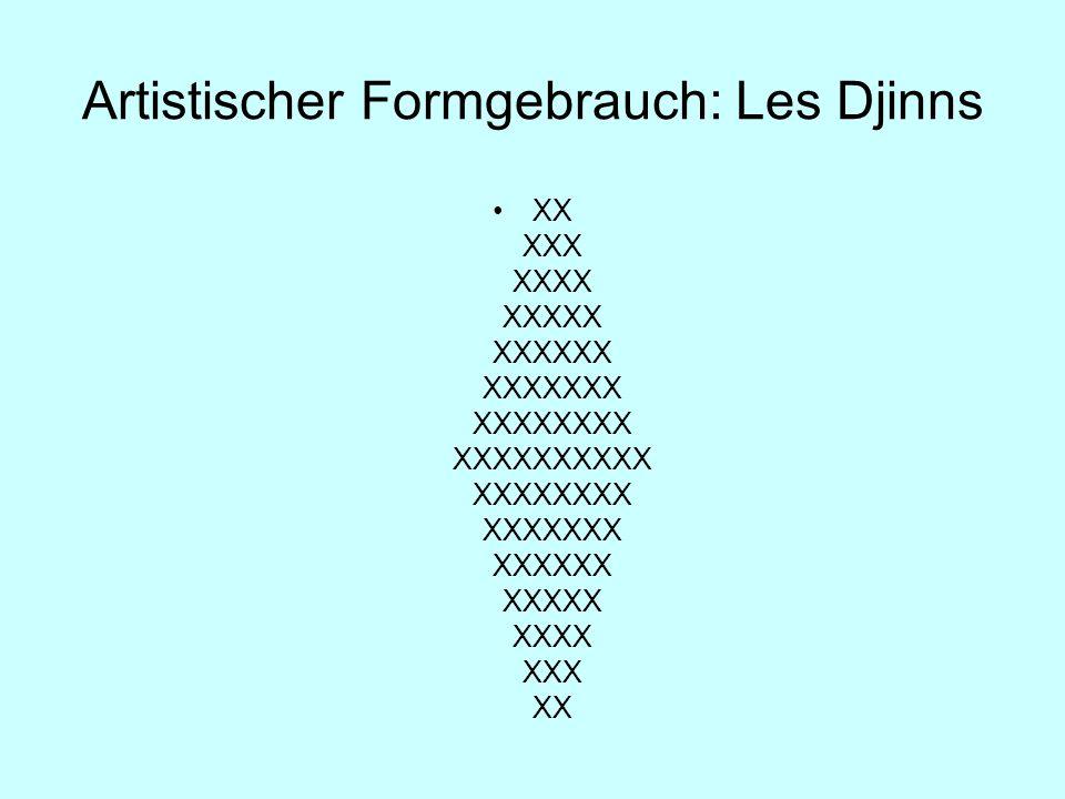 Artistischer Formgebrauch: Les Djinns XX XXX XXXX XXXXX XXXXXX XXXXXXX XXXXXXXX XXXXXXXXXX XXXXXXXX XXXXXXX XXXXXX XXXXX XXXX XXX XX