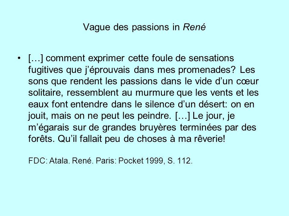 Vague des passions in René […] comment exprimer cette foule de sensations fugitives que jéprouvais dans mes promenades? Les sons que rendent les passi