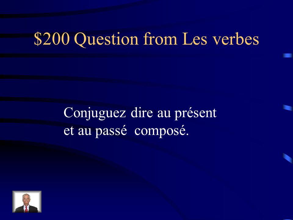 $100 Answer from Les verbes je bois nous buvons tu bois vous buvez il boit ils boivent (avoir) bu