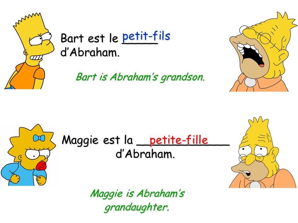 Homer est le _______ de Marge.mari Homer is Marges husband.