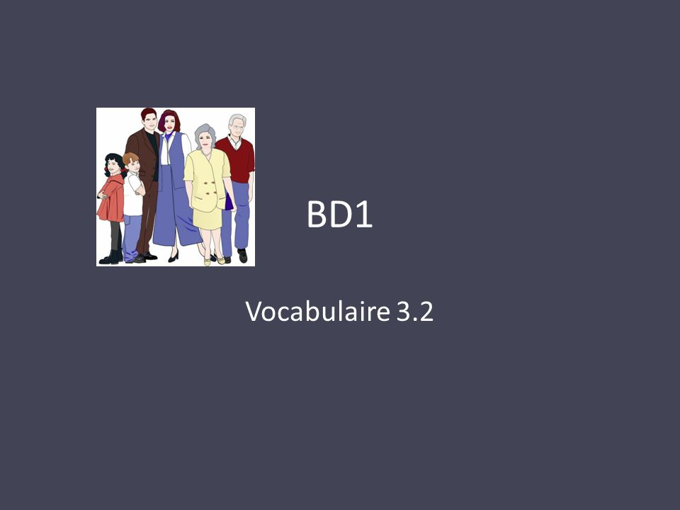 BD1 Vocabulaire 3.2