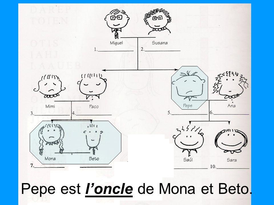 loncle Pepe est loncle de Mona et Beto.