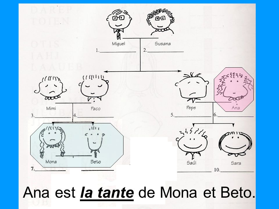 la tante Ana est la tante de Mona et Beto.