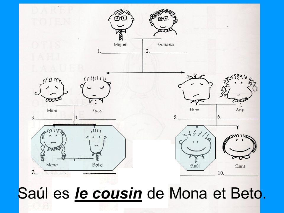 le cousin Saúl es le cousin de Mona et Beto.