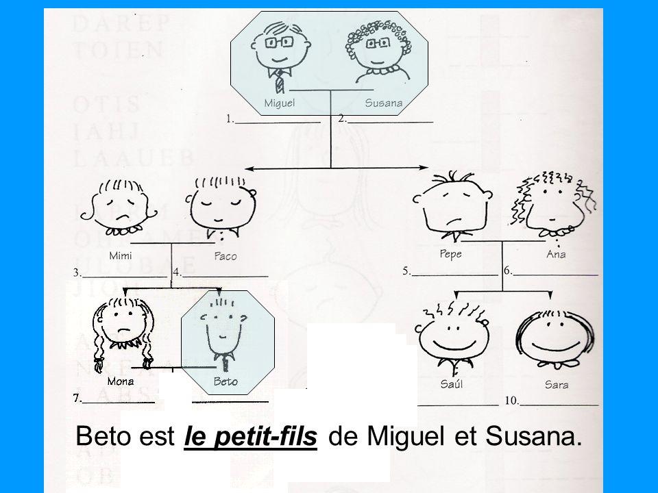 le petit-fils Beto est le petit-fils de Miguel et Susana.