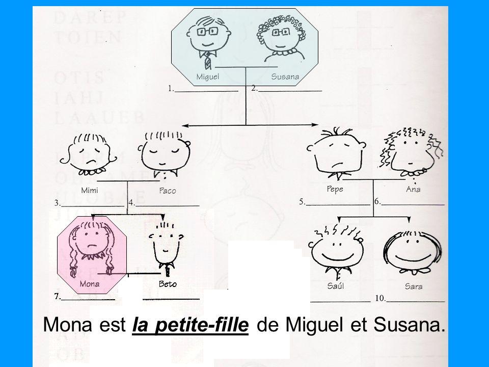 la petite-fille Mona est la petite-fille de Miguel et Susana.