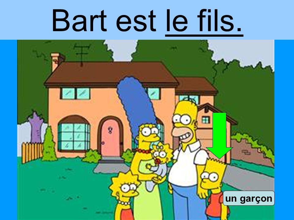 Bart est le fils. un garçon