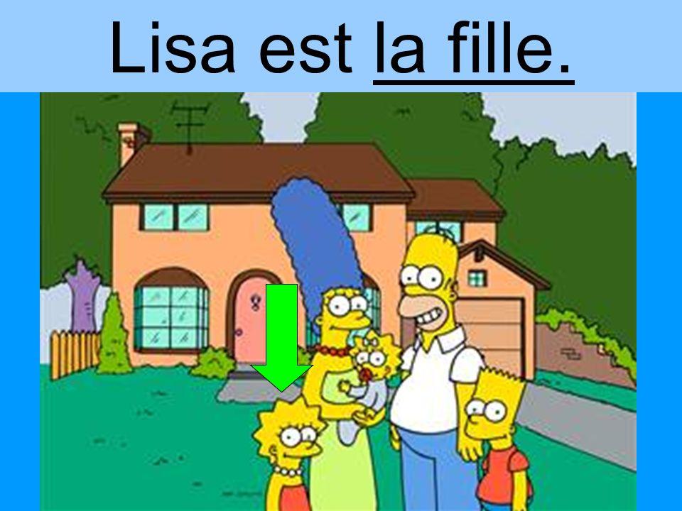 Lisa est la fille.