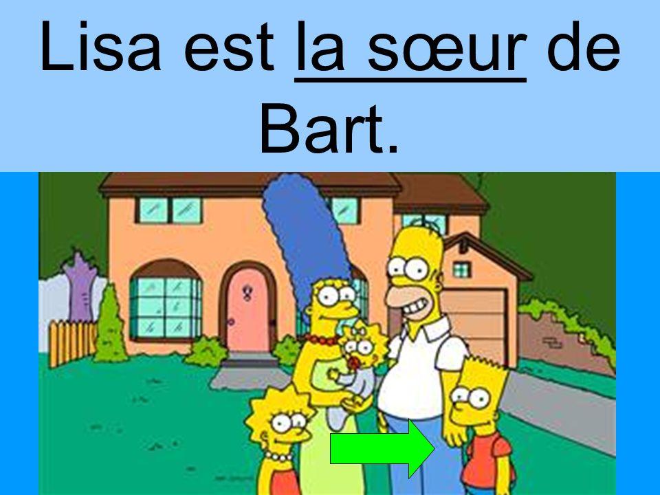 Bart est le frère de Lisa.