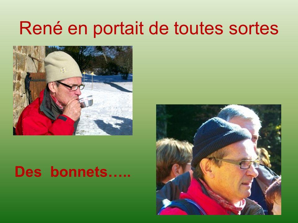 René en portait de toutes sortes Des bonnets…..