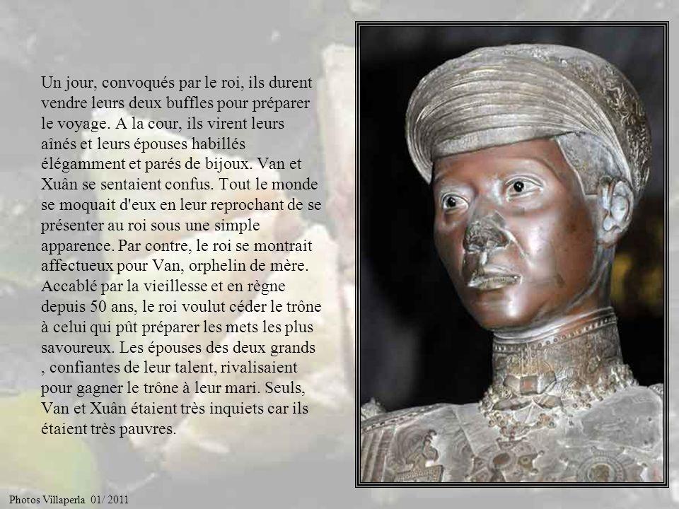 Et bien voilà… Le fils du premier roi Van- Lang, le Viêt-Nam d'autrefois, régnait sous le nom de Hùng-Vuong. Il avait trois épouses, chacune d'elles d