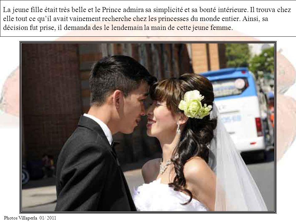 Comme cadeau de bienvenue, le couple demanda à leur fille demmener au Prince une corbeille remplie de son fruit.