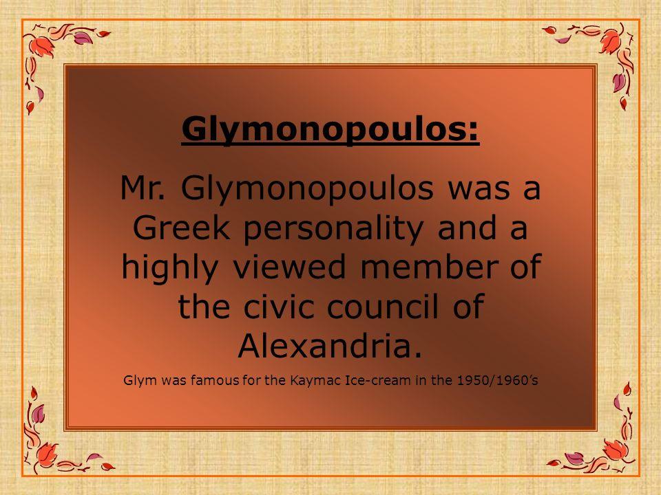 Glymonopoulos: Mr.