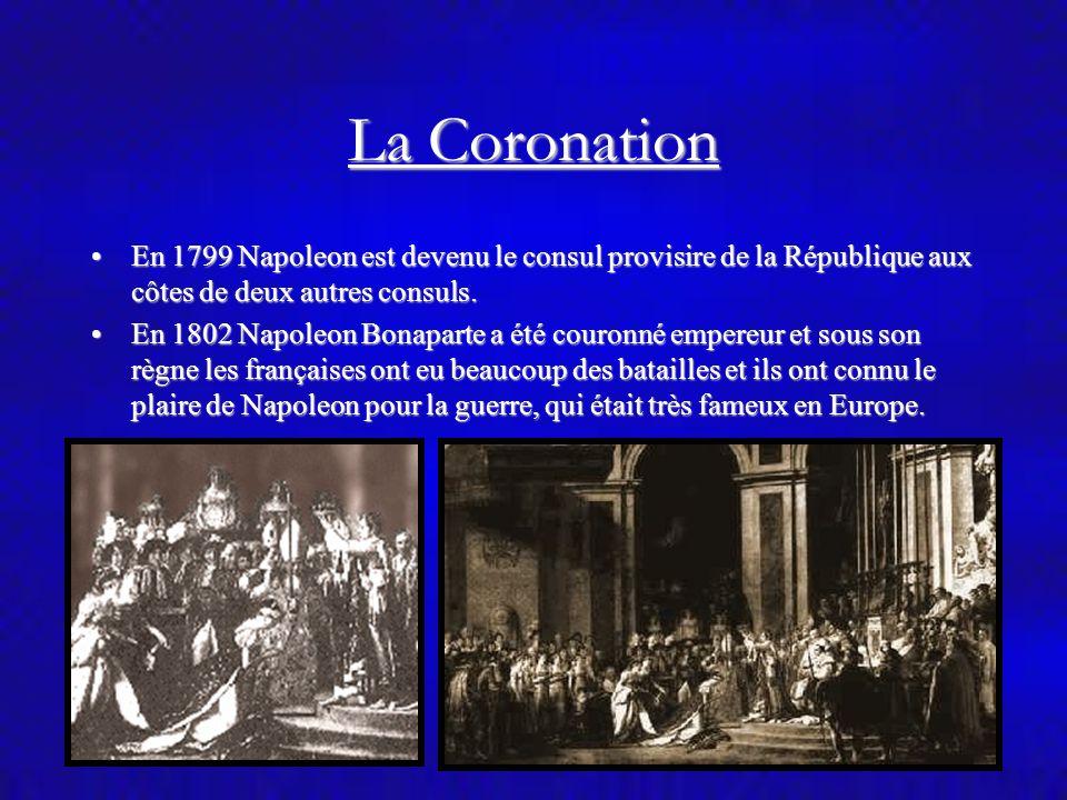Napoleon et Josephine En 1796, il s´est marié avec Josephine de Beauharnais, dont le mari a été décapité pendant la Révolution.En 1796, il s´est marié