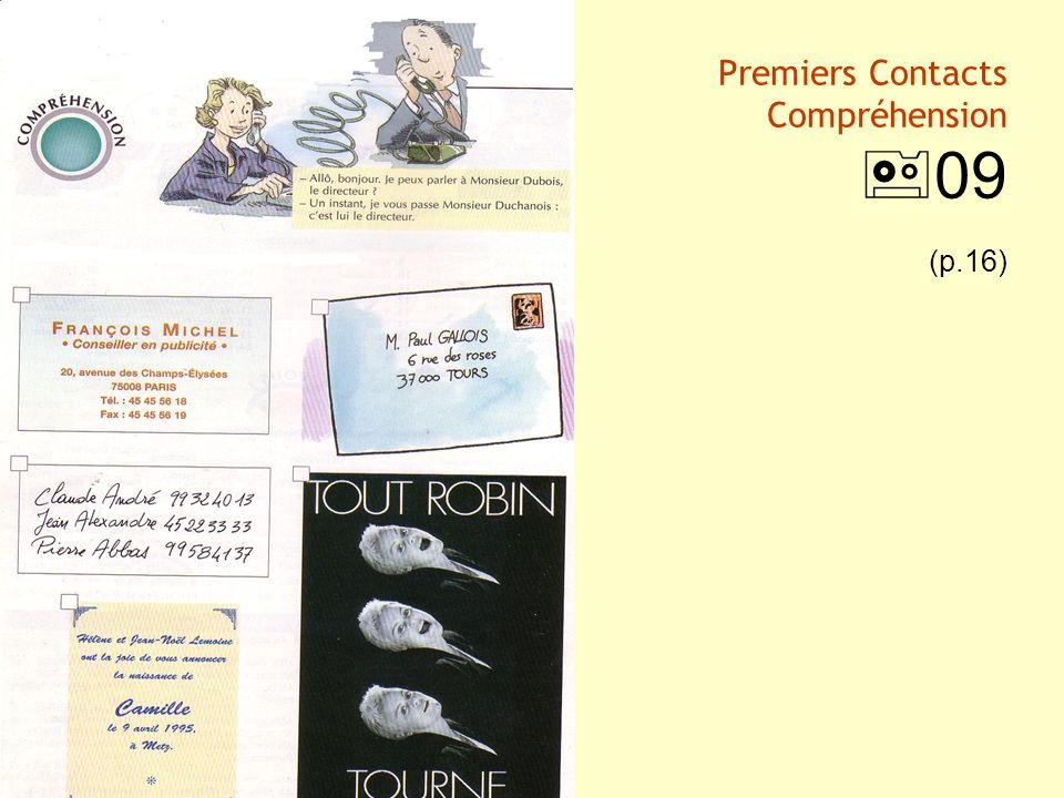 Premiers Contacts Compréhension 09 (p.16)