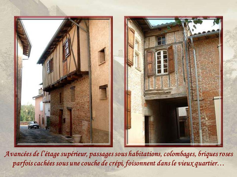 Les hauts remparts de briques roses comme le reste des constructions et les ruines dun ancien moulin à eau dont lactivité est notée dès le XIIIe siècle.