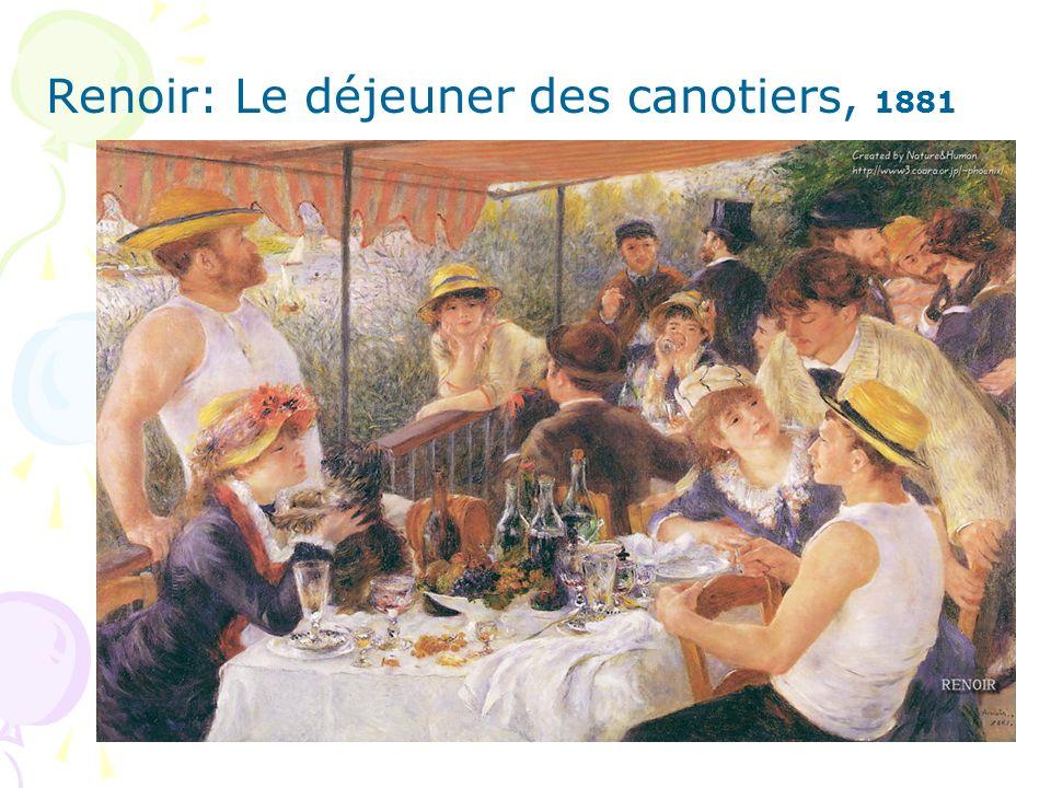 Renoir: Le déjeuner des canotiers, 1881
