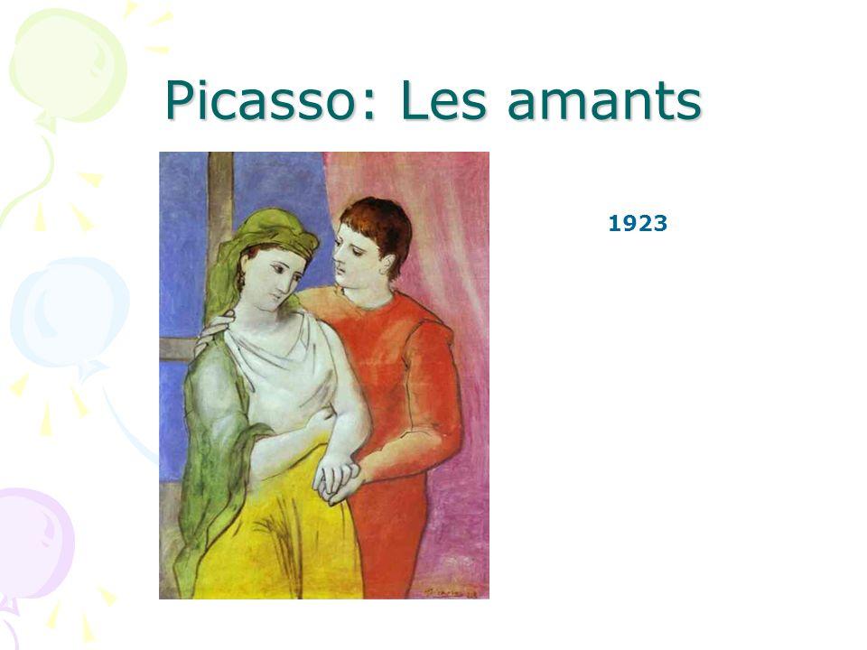 Picasso: Les amants Répondez aux questions en utilisant des pronoms objet Répondez aux questions en utilisant des pronoms objet Est-ce que lhomme aime la femme.