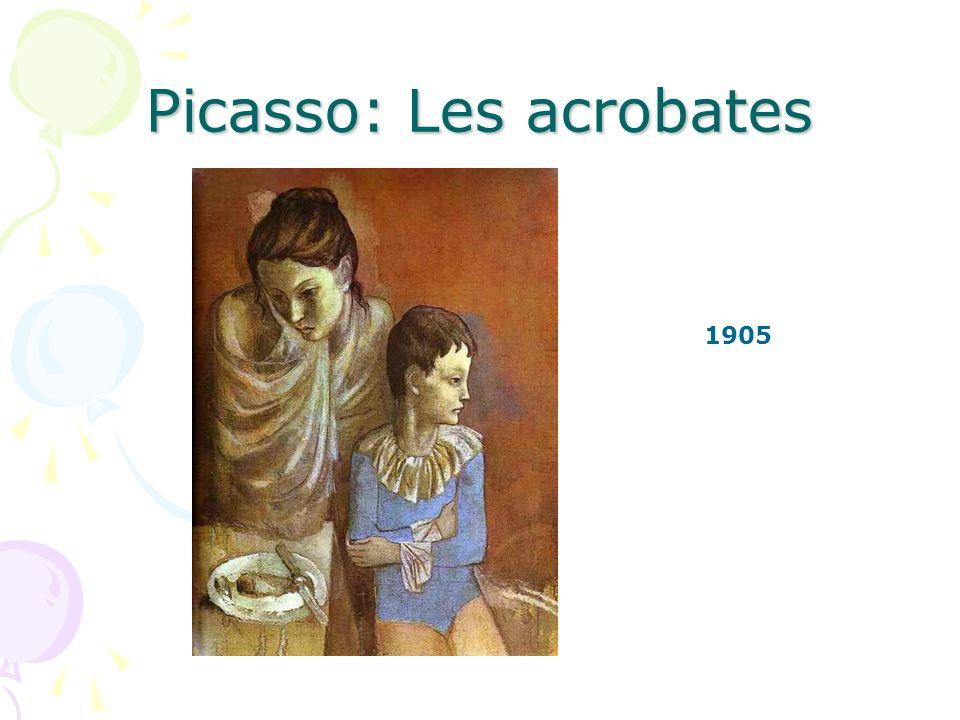 Picasso: Les acrobates Est-ce que la mère regarde son fils.