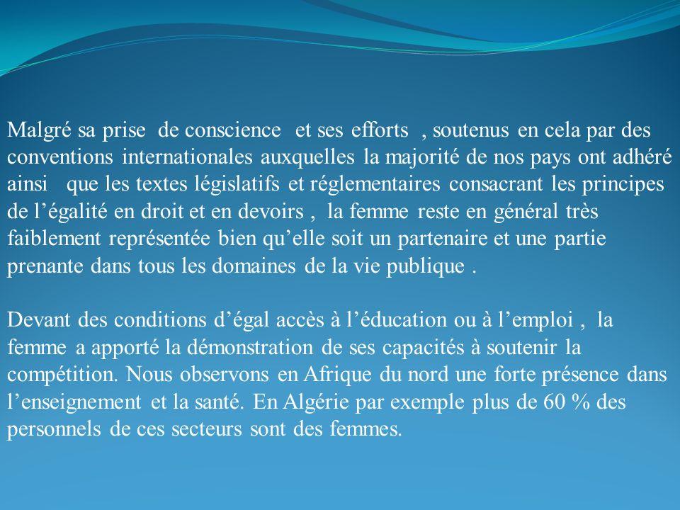 Malgré sa prise de conscience et ses efforts, soutenus en cela par des conventions internationales auxquelles la majorité de nos pays ont adhéré ainsi