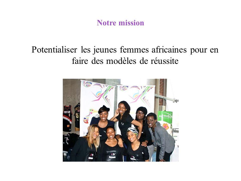 Notre mission Potentialiser les jeunes femmes africaines pour en faire des modèles de réussite