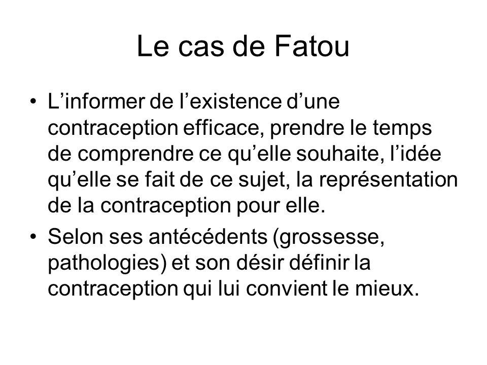 Le cas de Fatou Linformer de lexistence dune contraception efficace, prendre le temps de comprendre ce quelle souhaite, lidée quelle se fait de ce suj
