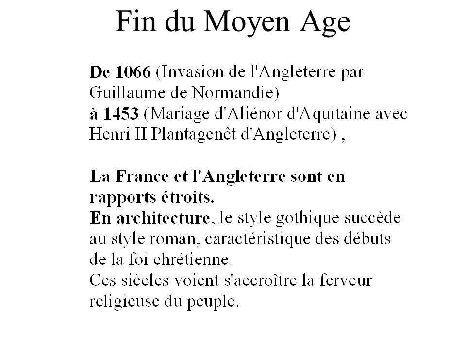 Fin du Moyen Age