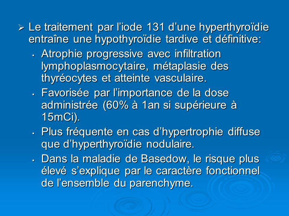 Le traitement par liode 131 dune hyperthyroïdie entraîne une hypothyroïdie tardive et définitive: Le traitement par liode 131 dune hyperthyroïdie entr