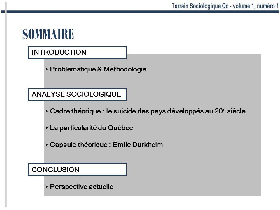 INTRODUCTION Problématique & Méthodologie
