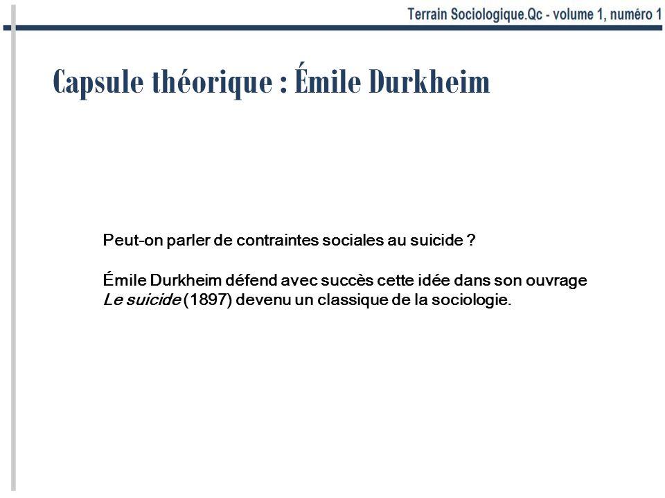 Peut-on parler de contraintes sociales au suicide ? Émile Durkheim défend avec succès cette idée dans son ouvrage Le suicide (1897) devenu un classiqu