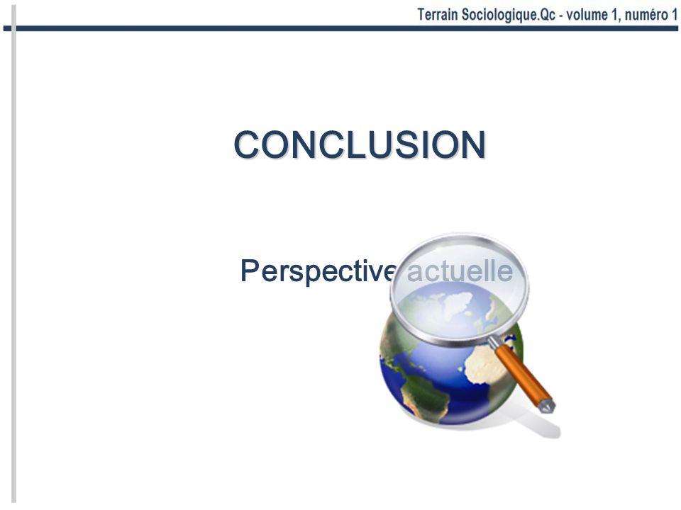 CONCLUSION Perspective actuelle