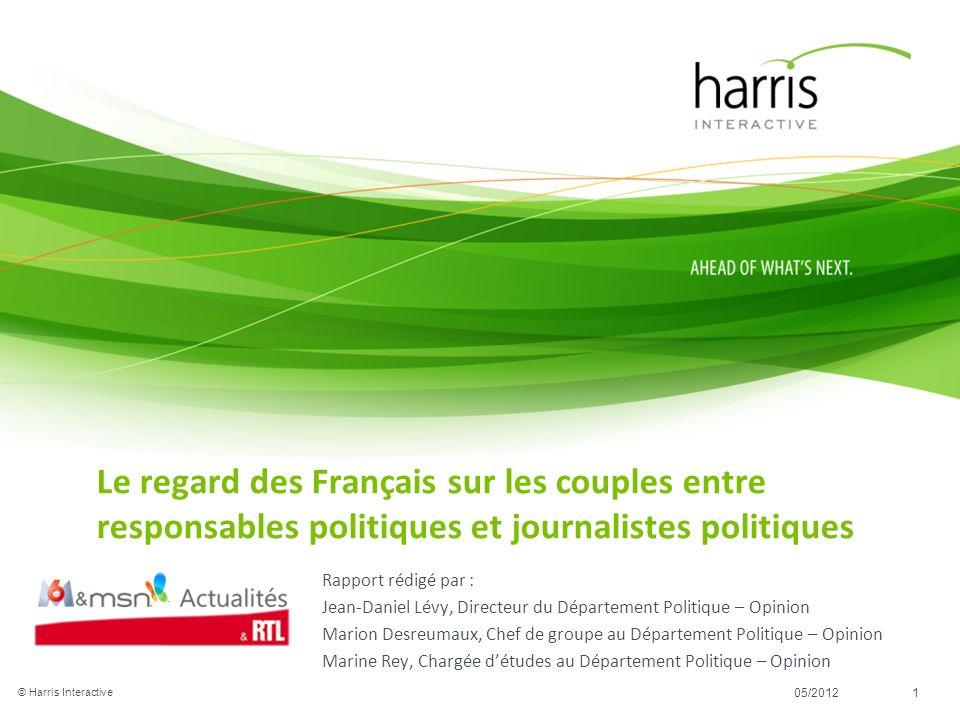 Rapport rédigé par : Jean-Daniel Lévy, Directeur du Département Politique – Opinion Marion Desreumaux, Chef de groupe au Département Politique – Opini
