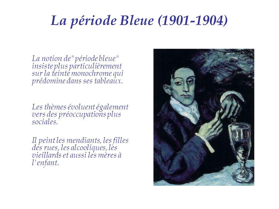 La période Bleue (1901-1904) La notion de