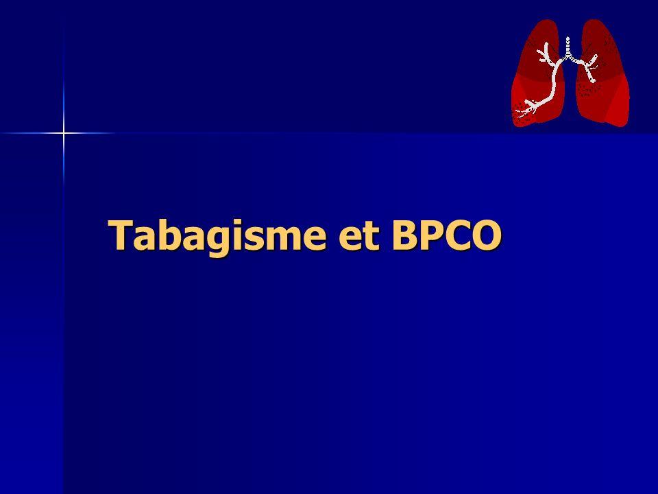 Tabagisme et BPCO Tabagisme et BPCO