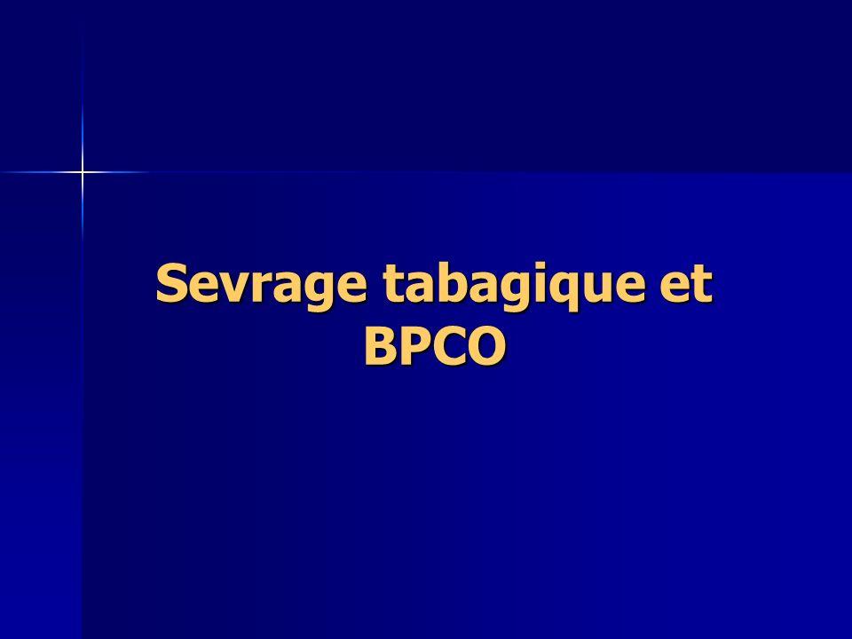 Sevrage tabagique et BPCO