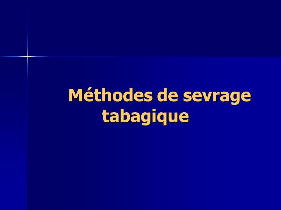 Méthodes de sevrage tabagique