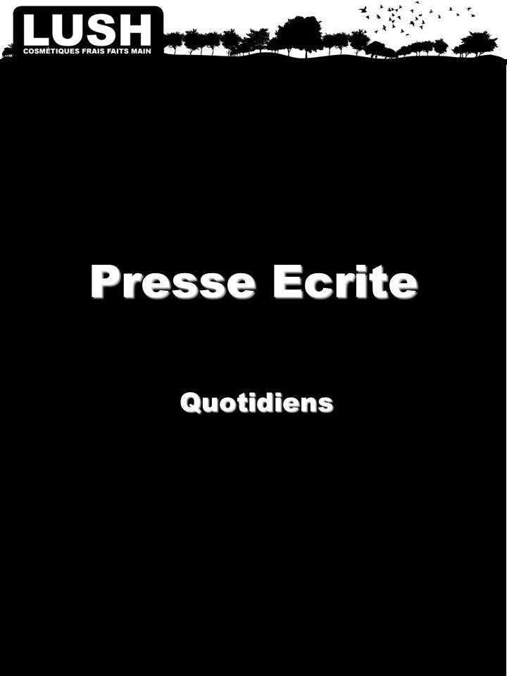Presse Ecrite Quotidiens