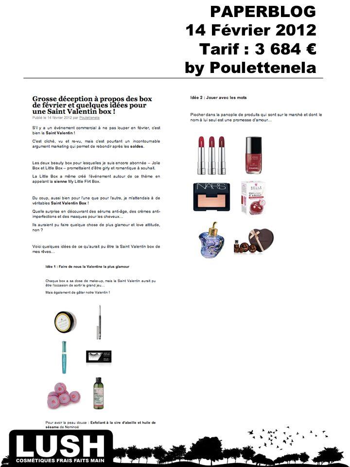 PAPERBLOG 14 Février 2012 Tarif : 3 684 by Poulettenela