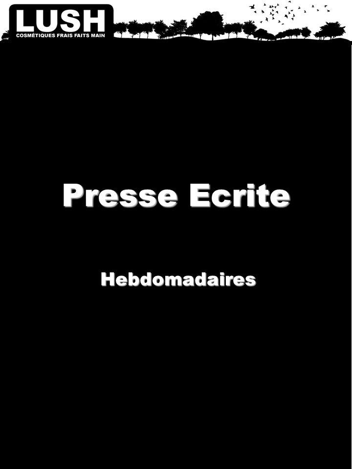 Presse Ecrite Hebdomadaires