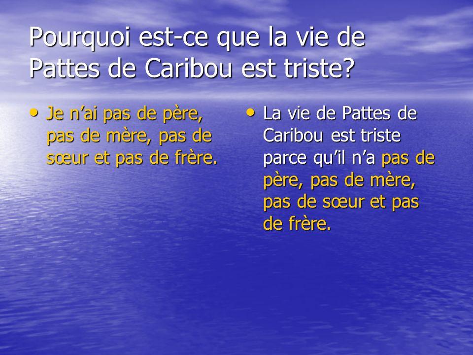 Pourquoi est-ce que la vie de Pattes de Caribou est triste.
