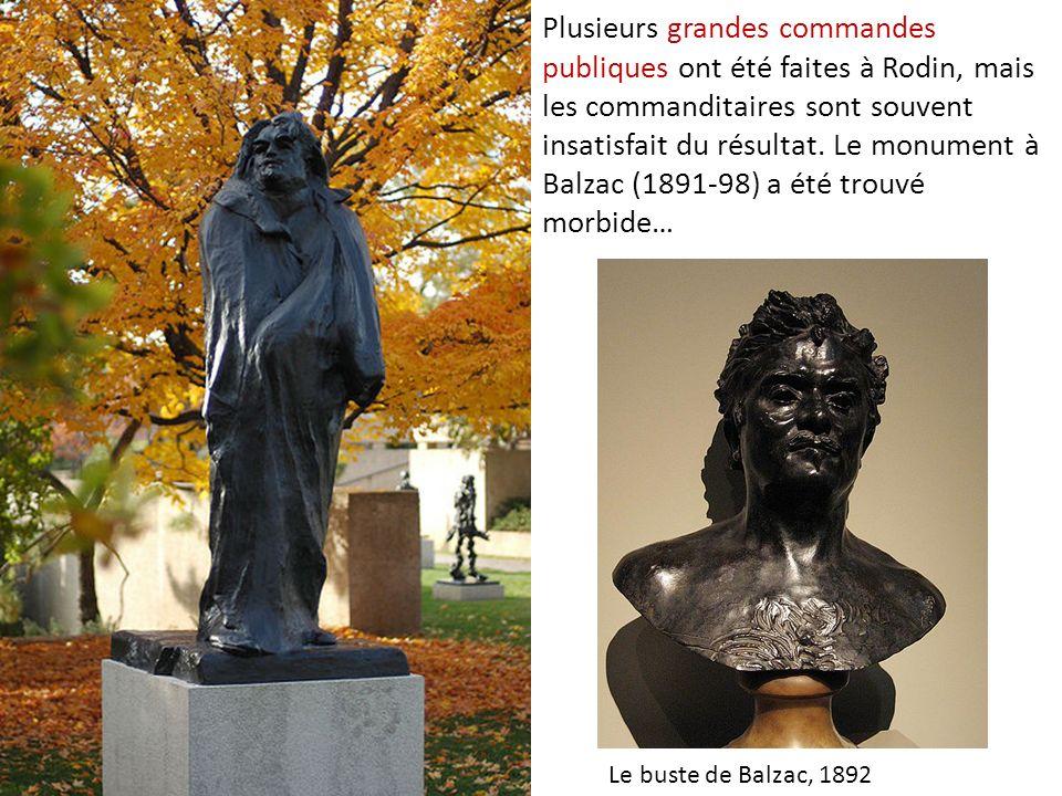 Plusieurs grandes commandes publiques ont été faites à Rodin, mais les commanditaires sont souvent insatisfait du résultat. Le monument à Balzac (1891