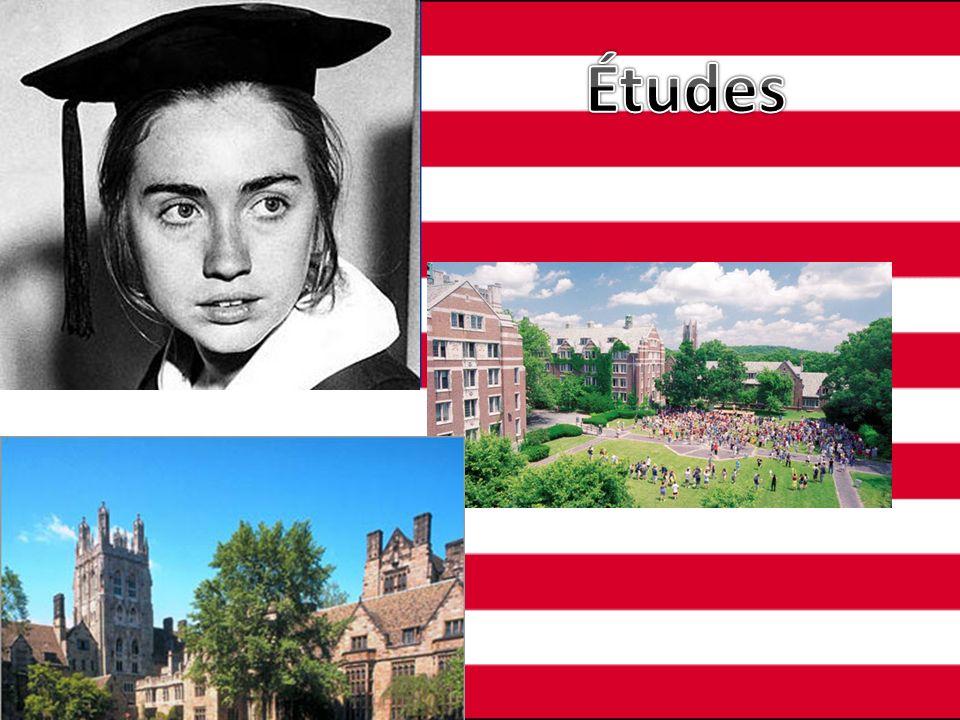 Niveau universitaire à Yale à New Haven au Connecticut Primaire et secondaire à Chicago Niveau collégial au Collège de Wellesley au Massachussetts