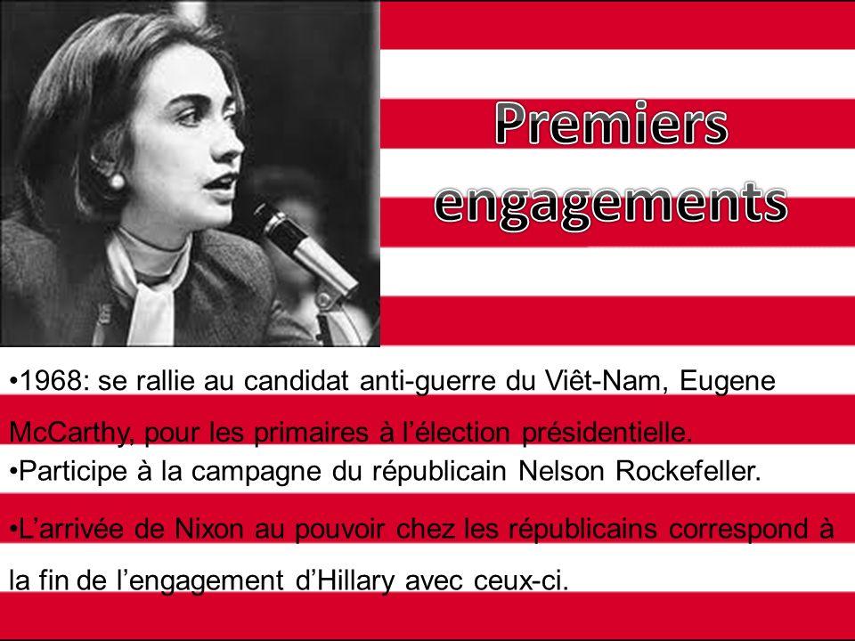 À la fin de ses études à Wellesley, elle prononce un discours dans lequel elle dénonce ladministration Nixon.